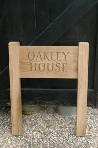 Oak House sign by Martin Cook