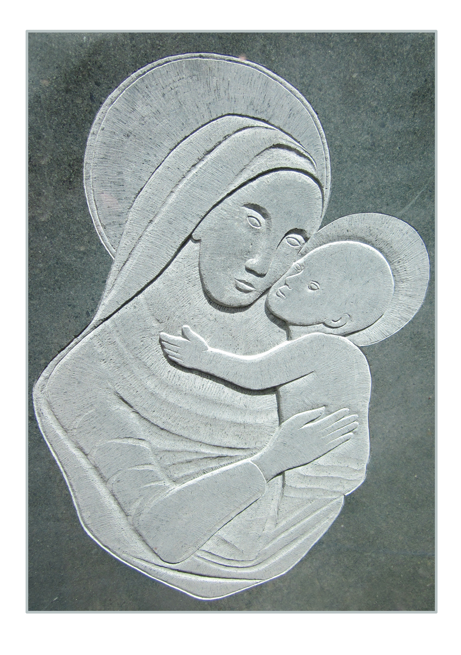 Relief carved Cumbrian slate by Martin Cook