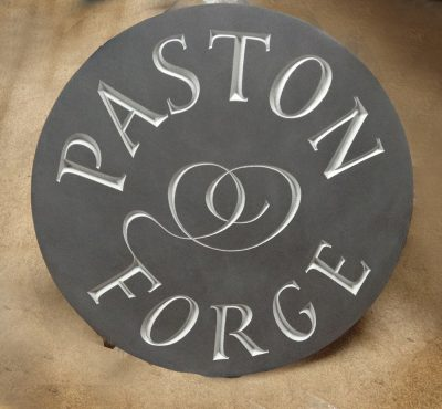 Hand carved welsh slate house sign