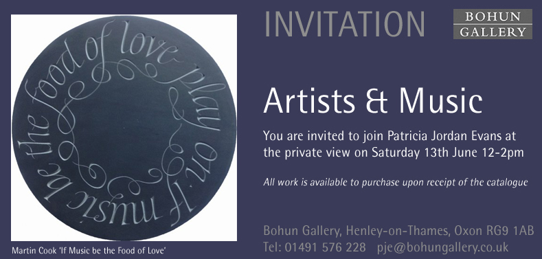 Martin Cook exhibits at The Bohun Gallery Henley-on-Thames