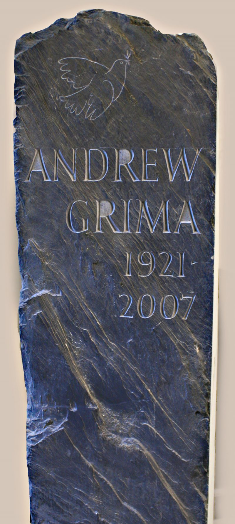 headstone made from slate