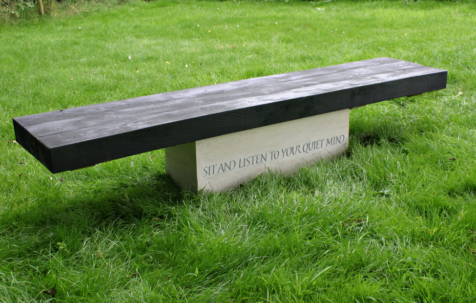 Carved Stone Bench : Benches and tables martin cook studio