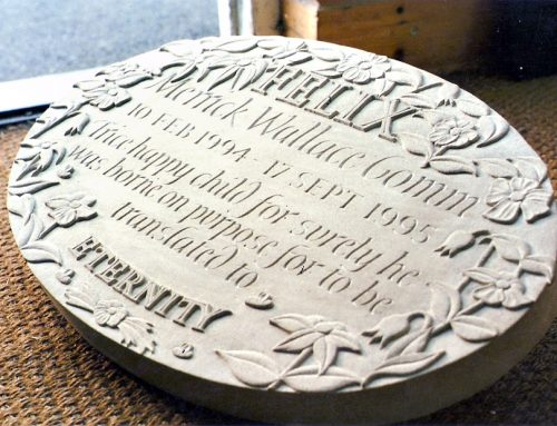 Relief Carved Memorial Plaque