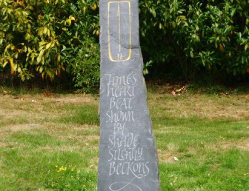 Riven Grey Slate Sundial