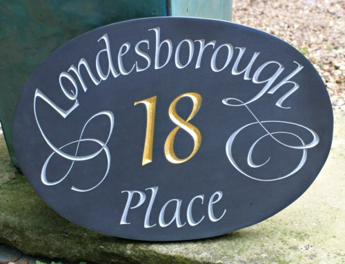 Welsh Slate House Sign Gilded